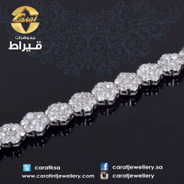 Women's Bracelet with 18K Gold and Diamonds