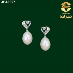 Women's 18k Gold Earring with Diamond and Cultured Pearl