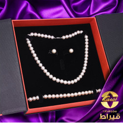 Women's Cultured Pearl Half set with 18K White Gold