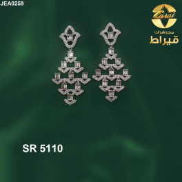 Women's 18k Gold Earring with Diamonds