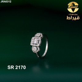 Women's 18k Gold Ring with Diamonds