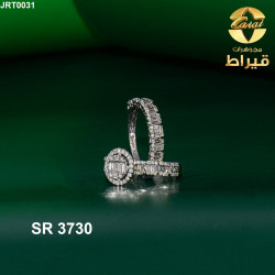 Women's 18k Gold Twins Ring with Diamonds