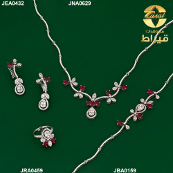 Women's 18K  Gold Full Set with Diamond and Ruby