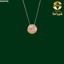 Women's 18k Gold  Pendant with  Shell stone
